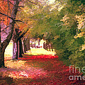 Painterly Forest Trail by Jim Lepard