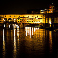 Painterly Ponte Vecchio Firenze Florence Italy by David Coblitz