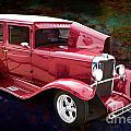 Painting 1929 Chevrolet Classic Car Automobile Color Red 3132.03 by M K Miller