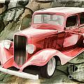 Painting 1933 Chevrolet Chevy Sedan Classic Car In Color  3161.0 by M K Miller
