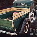 Painting 1937 Ford Pickup Truck Spare Tire Classic Car In Color  by M K Miller