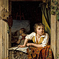 Painting And Music. Portrait Of The Artists Son by Martin Drolling