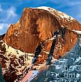Painting Half Dome Yosemite N P by Bob and Nadine Johnston