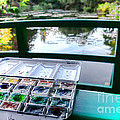Painting In Giverny by Olivier Le Queinec