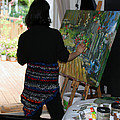 Painting My Backyard 1 by Becky Kim