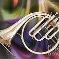 Painting Of A French Horn Antique Classic In Color 3430.02 by M K Miller