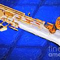 Painting Of A Soprano Saxophone And Butterfly 3352.02 by M K  Miller