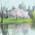 Painting Of Central Park In Spring by Beverly Brown