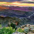 Painting Of Desert View Grand Canyon by Bob and Nadine Johnston