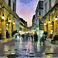 Old City Of Corfu During Dusk Time by George Atsametakis