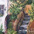 Painting    Siesta Steps by Judy Via-Wolff