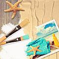 Painting Summer Postcard by Amanda Elwell