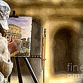 Painting The Colosseum by Stefano Senise