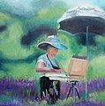 Painting The Lavender Fields by Donna Tuten