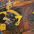 Paintings On Wall Of Middle Court Hall Of Grand Palace Of Thailand by Ruth Hager