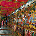 Paintings On Wall Of Middle Court Hallof Grand Palace Of Thailand by Ruth Hager