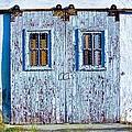 Painty Flakey Garage Doors by Matt Rice