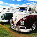 Pair Of Busses by Steve McKinzie