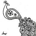 Paisley Peacock by Dana Strotheide