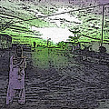 Pakistani Man At Sunset 1 by Lenore Senior