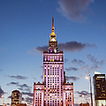 Palace Of Culture And Science At Dusk In Warsaw by Artur Bogacki