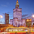 Palace Of Culture And Science In Warsaw At Dusk by Artur Bogacki