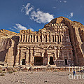 Palace Tomb In Nabataean Ancient Town Petra by Juergen Ritterbach