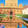 Palacio Nazaries In Alhambra by Dragomir Nikolov