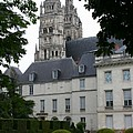 Palais In Tours With Cathedral Steeple by Christiane Schulze Art And Photography