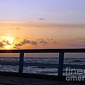 Palanga Sea Bridge At Sunset. Lithuania by Ausra Huntington nee Paulauskaite