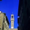 Palazzo Vecchio Clock Tower by Bob Phillips