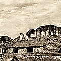 Palenque Panorama Sepia by Weston Westmoreland