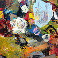 Palette Abstract by Michelle Calkins