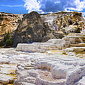Palette Spring Terrace Panorama - Yellowstone National Park Wyoming by Brian Harig