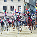 Palio Di Siena Horse Race by Ronald C. Modra/sports Imagery