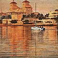 Palm Beach At Golden Hour by Debra and Dave Vanderlaan
