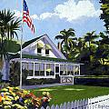 Palm Cottage Naples Florida by Christine Hopkins