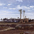 Palm Forest In Elche by Carlos de Haes