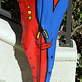 Palm Frond Tribal Red/blue by Craig Incardone