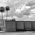 Palm Springs City Hall Bw Palm Springs by William Dey