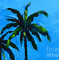 Palm Trees At Miami Beach With Blue Skies by Patricia Awapara
