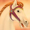 Palomino Carousel Horse by Sabrina L Ryan
