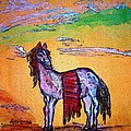 Palomino Horse In Desert by Peggy Leyva Conley