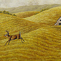 Palouse Farm Whitetail Deer by Crista Forest