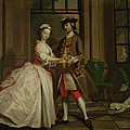 Pamela And Mr B. In The Summerhouse by Joseph Highmore