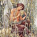 Pan Playing His Pipes by Walter Crane