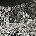 Panaca Sandstone Formations In Black And White Nevada Landscape by Dave Welling