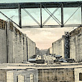 Panama Canal Locks by Granger