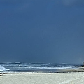 Panama City Beach Awaiting Hurricane Isaac by Debra Forand