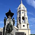 Panama City Bolivar Monument And San Francisco Church by James Brunker